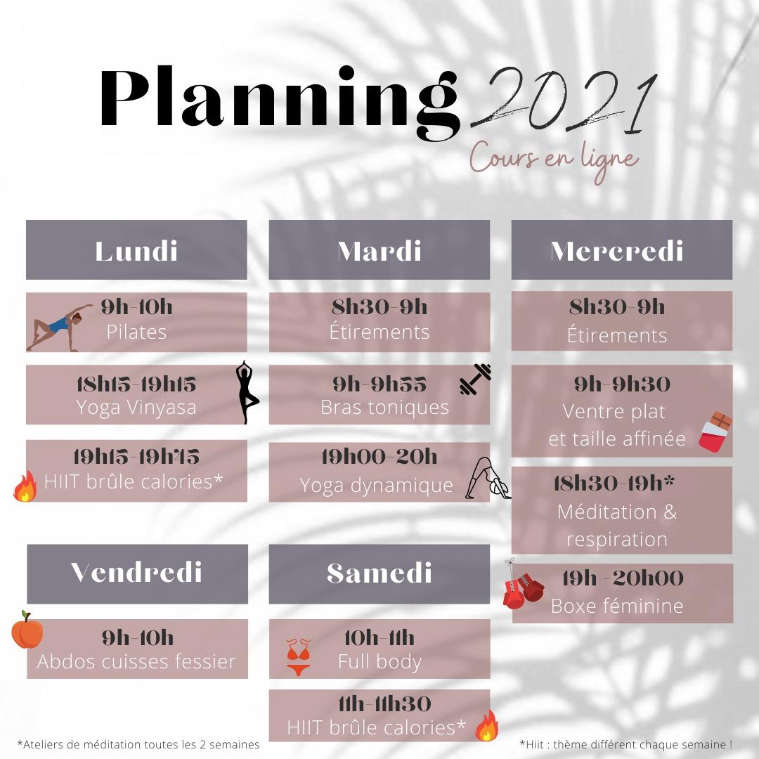 planning coaching à distance
